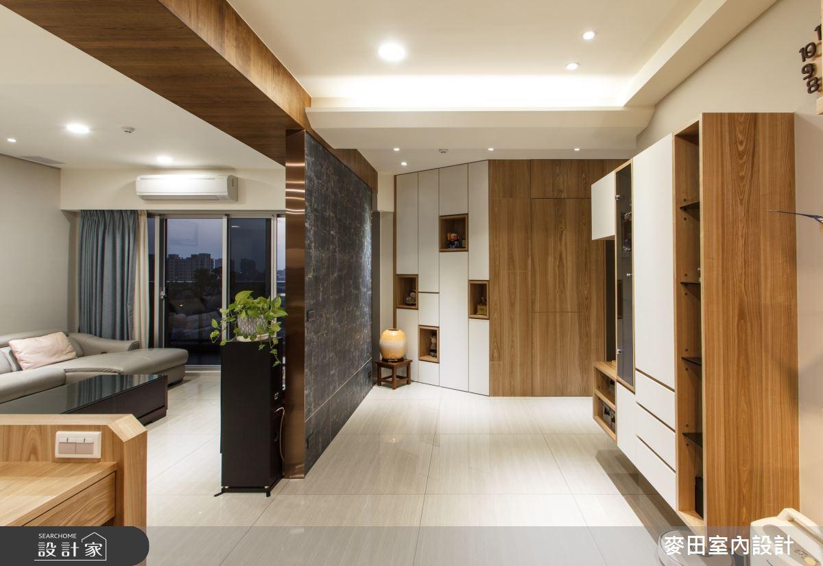 42坪新成屋(5年以下)_混搭風客廳走廊案例圖片_麥田室內設計有限公司_麥田_20之2
