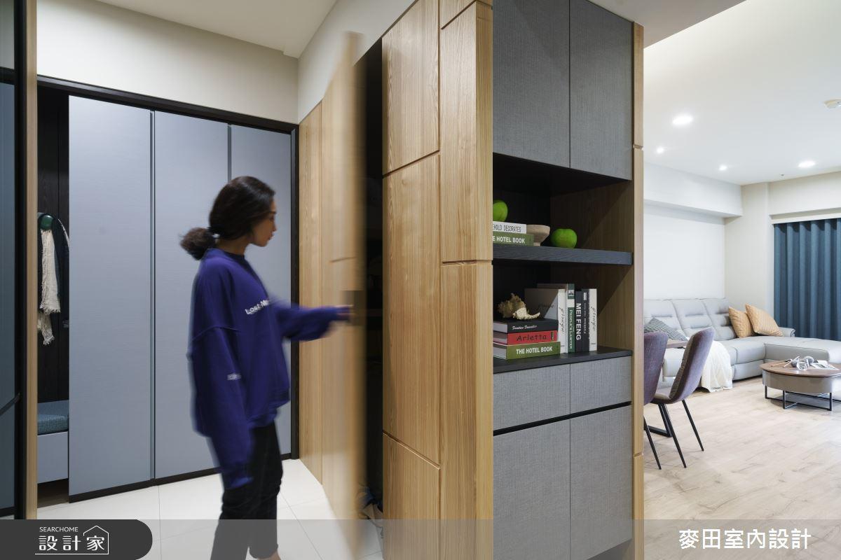 43坪新成屋(5年以下)_簡約風玄關案例圖片_麥田室內設計有限公司_麥田_22之4