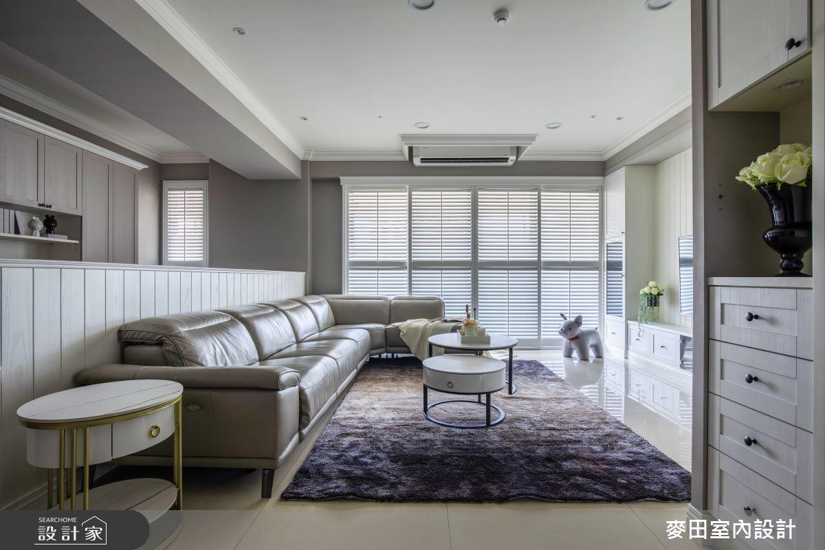 89坪新成屋(5年以下)_美式風客廳案例圖片_麥田室內設計有限公司_麥田_23之2