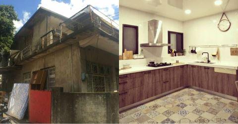 神隊友老公,45年老屋改造,開放客廳、大廚房、更衣室、盪鞦韆夢想達成 !
