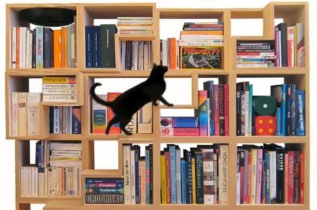 愛貓族的書牆設計