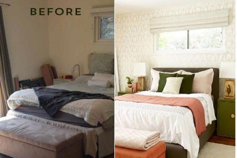 Before & After: 清爽明亮的柔和臥房設計