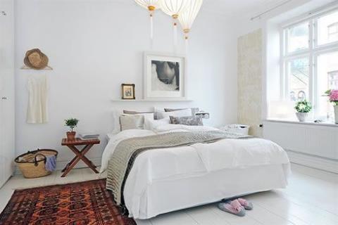 瑞典小公寓的老式浪漫
