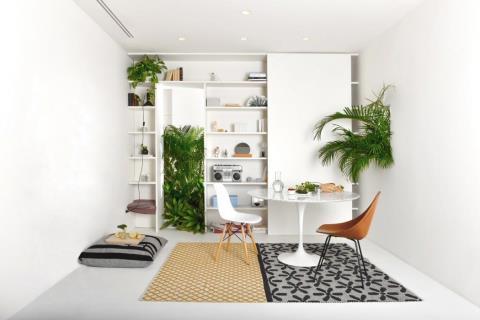 米蘭的熱帶雨林創意公寓設計