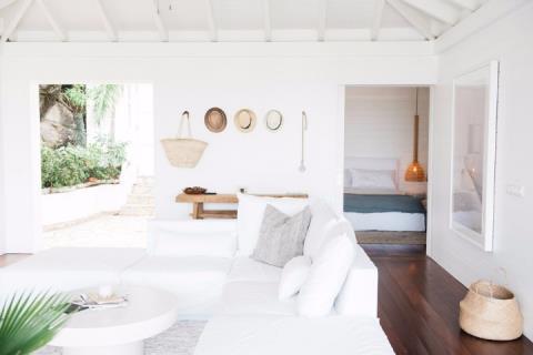 海島上的法式純白度假屋:美型空間細部解析