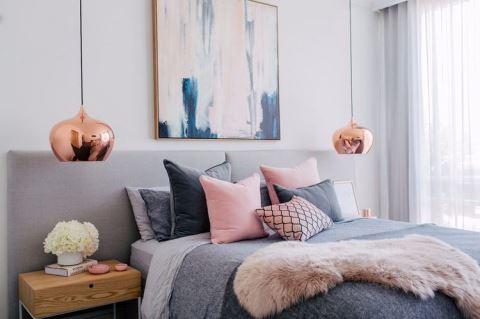 繽紛臥室系列: 40 個打造灰色臥室的好點子!