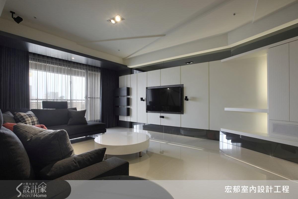 燈光+鏡面+線條  50 坪大宅翻玩現代風品味