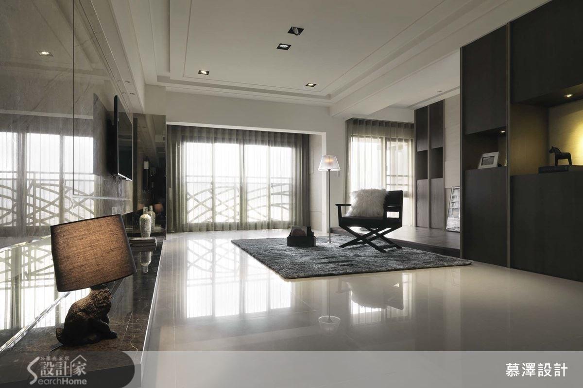 超好感明亮宅 45 坪石材+鏡面+陽光現代風居家