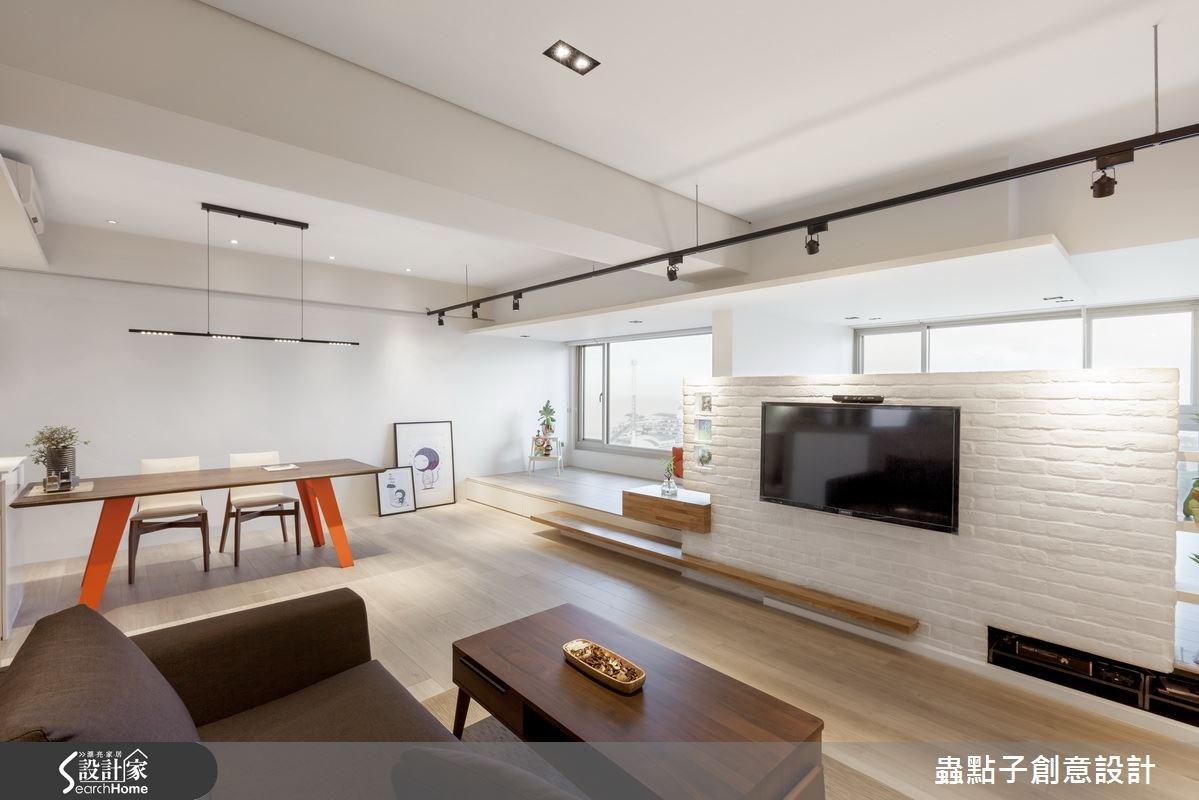 18 坪北歐宅 這是一個開放式大房間的概念!