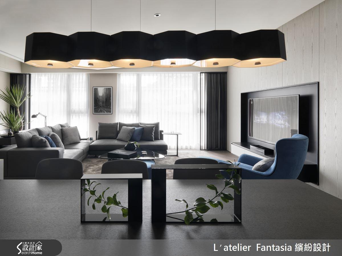 單身企業家的 36 坪居宅 演繹現代幾何的魅力風尚