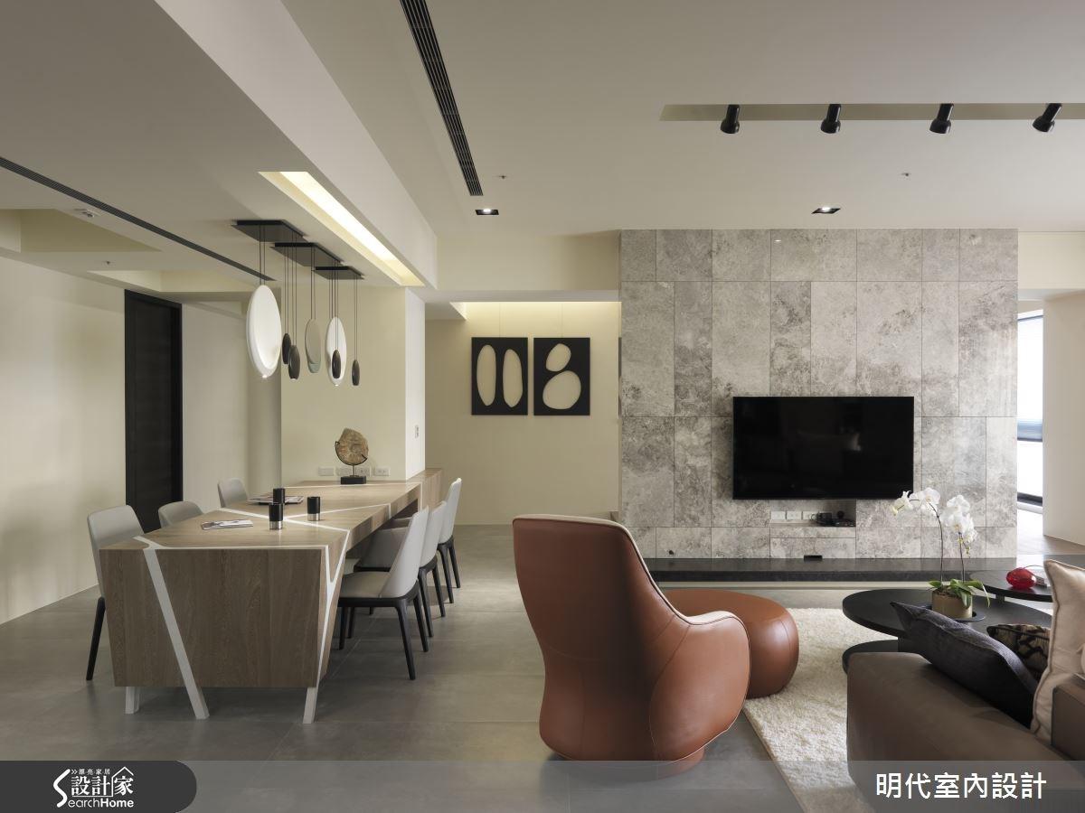 用框與圓作畫  在 64 坪現代宅展開一場圖騰嬉遊