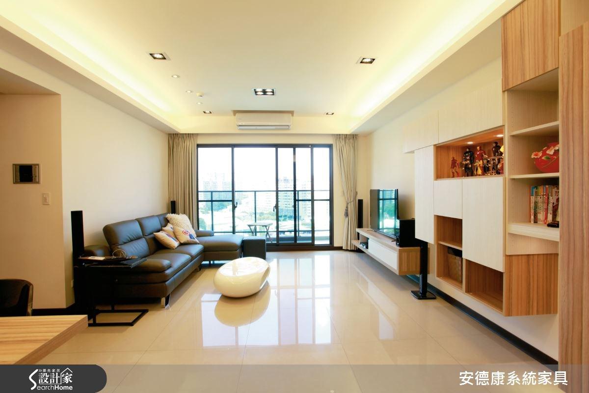 清新簡約4口之家 用系統家具創造超實用機能!