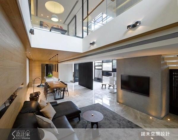 溫暖大地色×多重光影 100坪現代別墅超療癒!