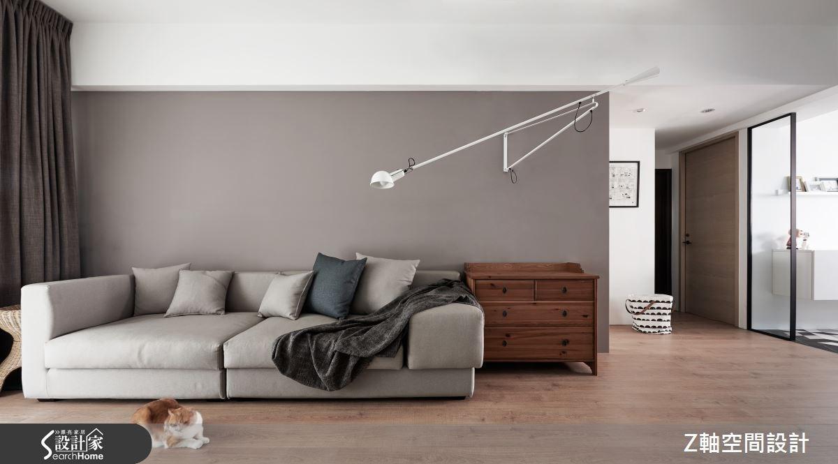 仨人一貓的光感日常 18 坪黑白灰的簡約平衡