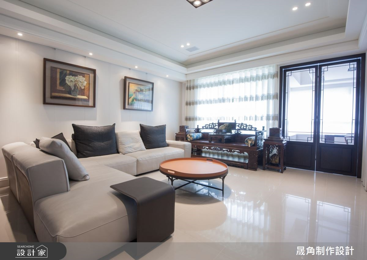 看見水墨畫的留白處 機能滿點的「輕中式」 52 坪退休宅