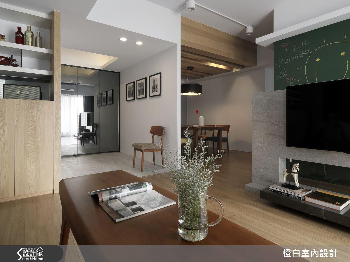 34 坪老屋搖身一變  化身木感歐式現代宅!