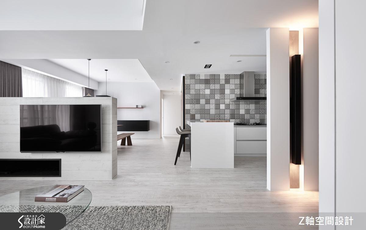 黑白灰的時尚訂製魅力 一面花磚牆打造端景新焦點