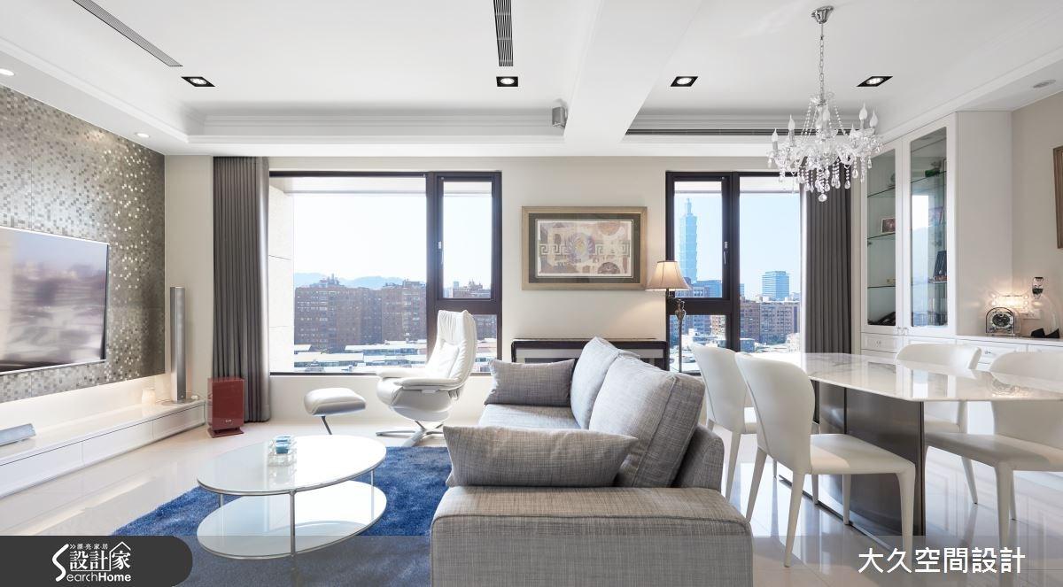 坐擁豪宅氣勢窗景  27 坪純白美式的皇家藍風景!
