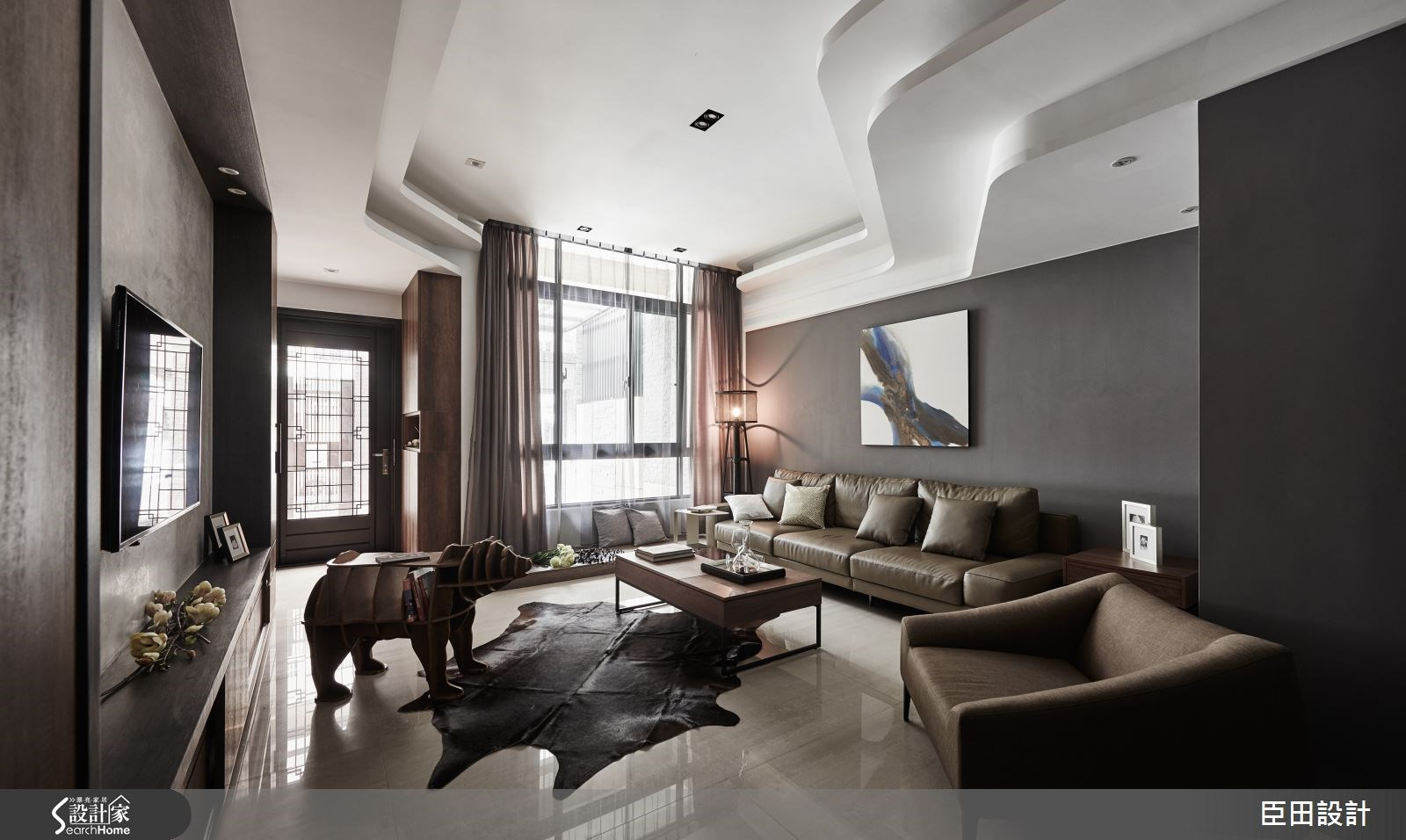時尚流動構線 打造 30 坪完美藝文居宅計畫