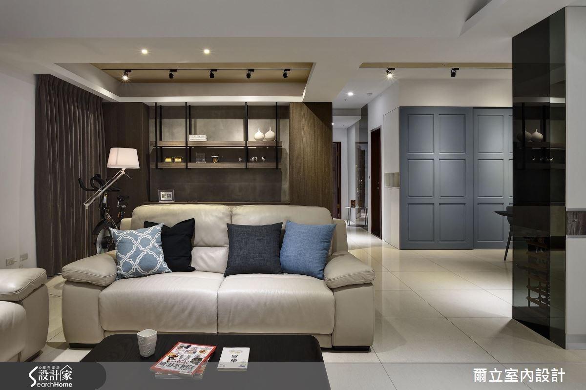 偏愛優雅時尚灰藍! 收藏 45 坪現代宅的深度品味