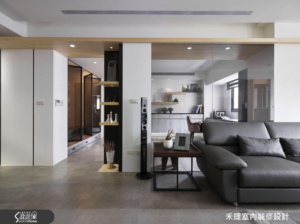 40 坪老舊辦公室 化身多層次光感現代家!