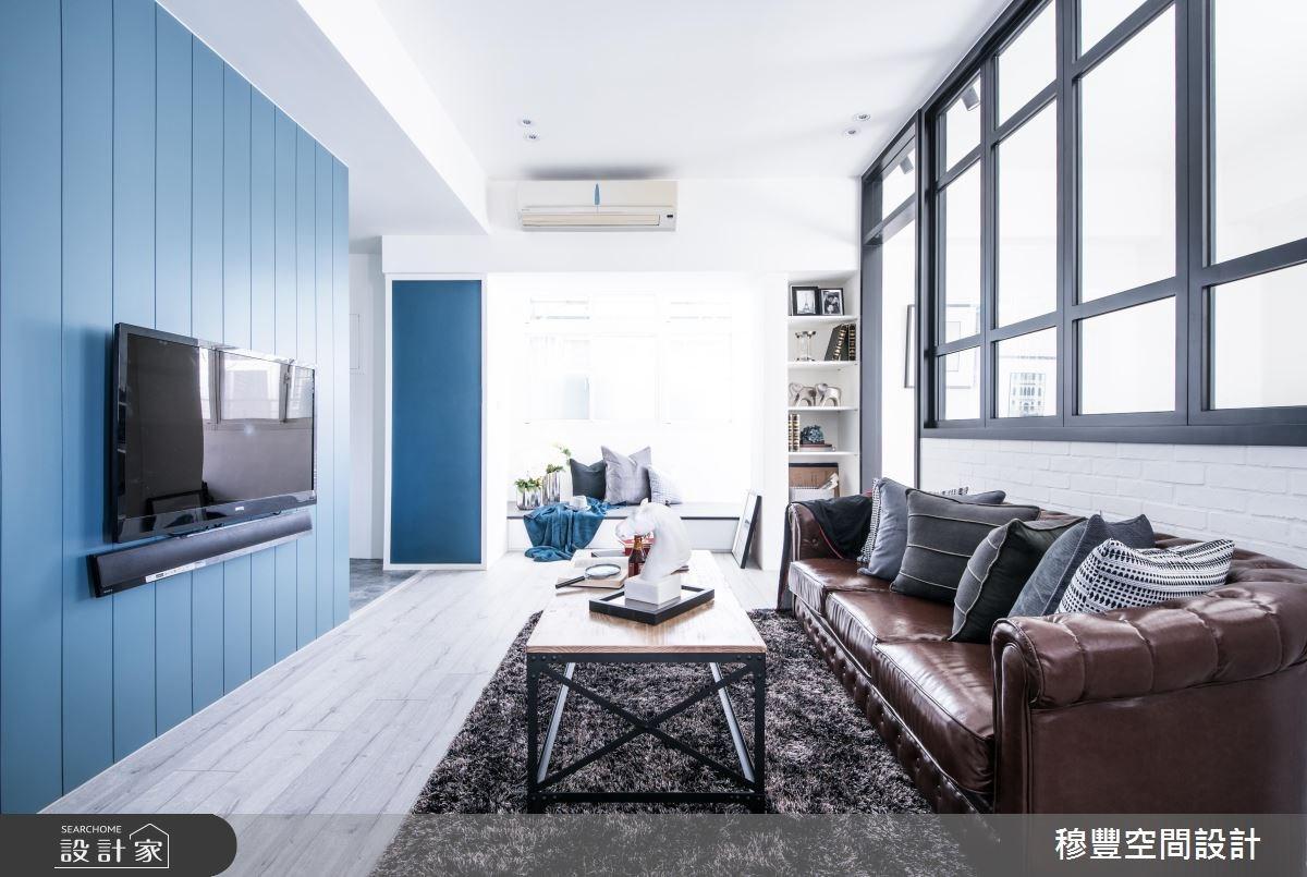 為你留下這片藍色風景!25 坪老屋的北歐風改造計畫