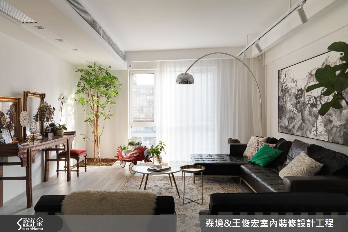 引植一株希望之樹 融匯藝術、綠意的 72 坪簡約居宅