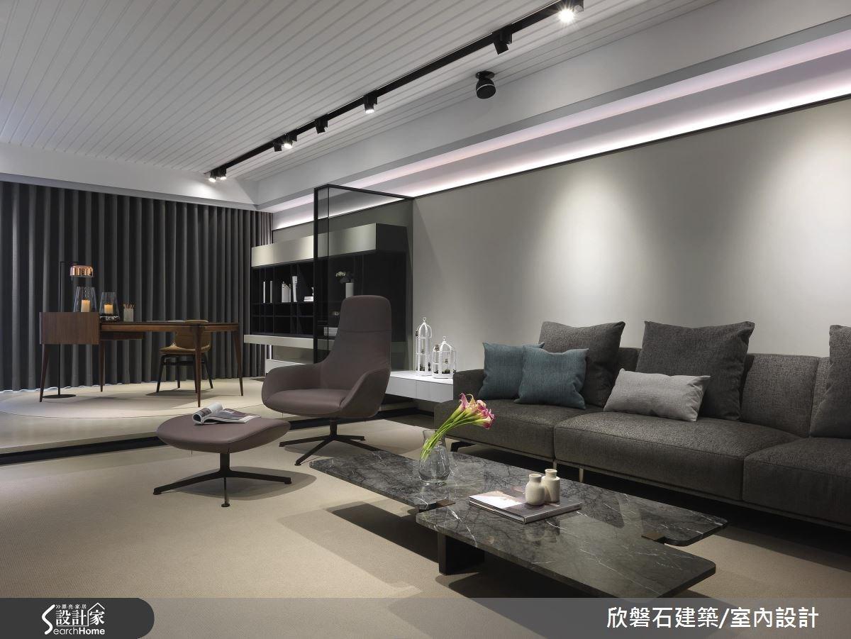 低調的高端品味!俐落線條x簡潔色塊打造現代風大宅
