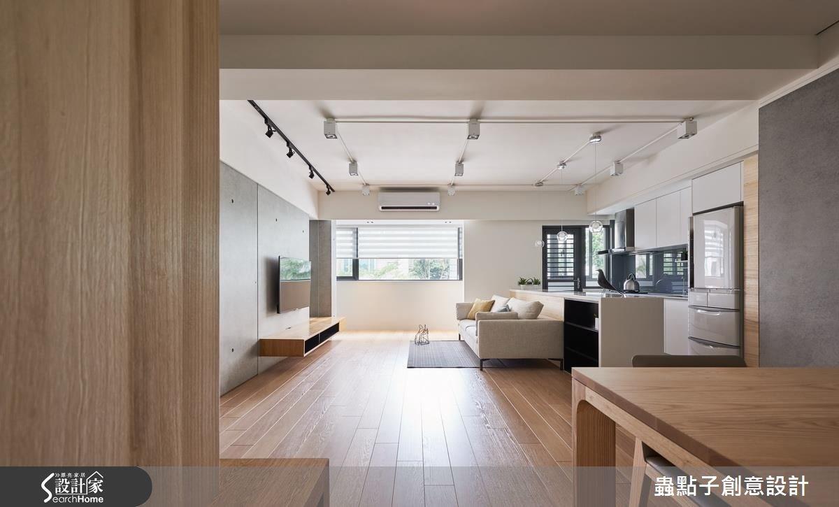 邁向明亮好感! 插畫家的 30 坪簡約風夢想部屋