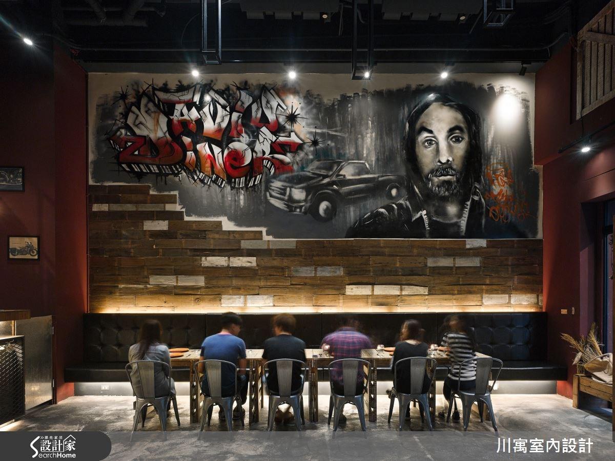 9.5坪打造紐約布魯克林!塗鴉 x 紅磚 x Loft 風潮餐廳