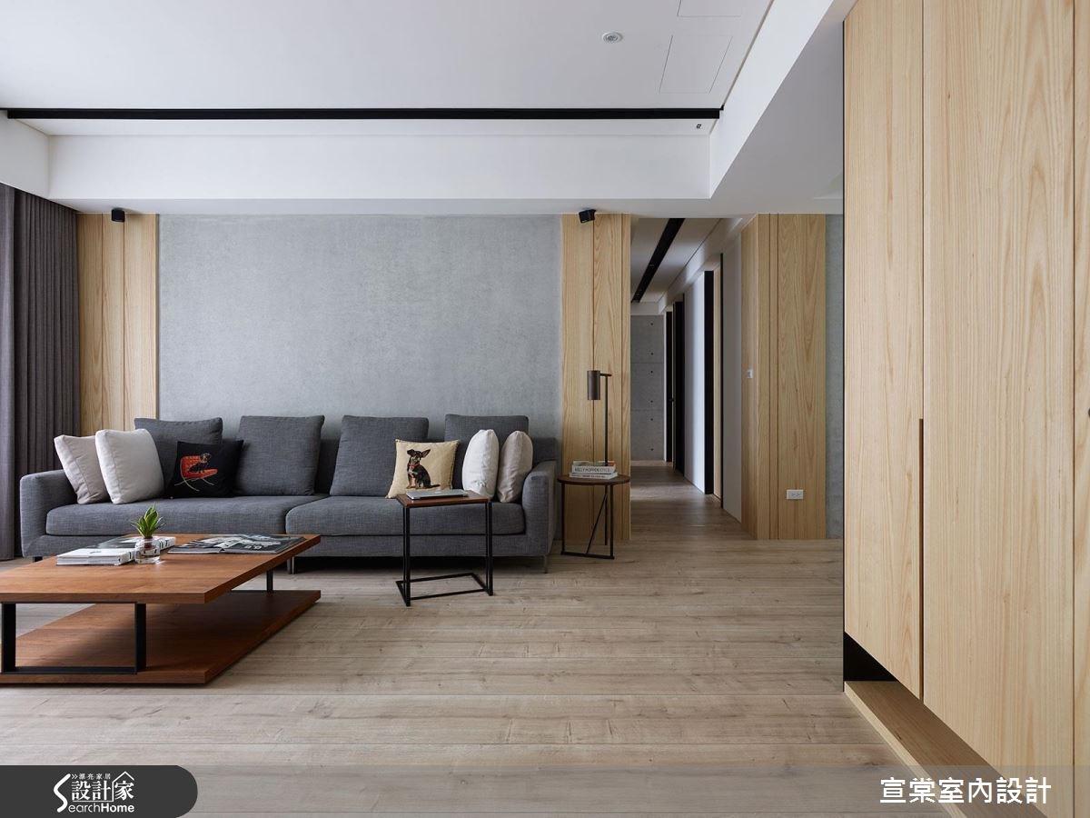 舒適好感! 38 坪溫潤簡約風 清水模和木質的完美比例!!