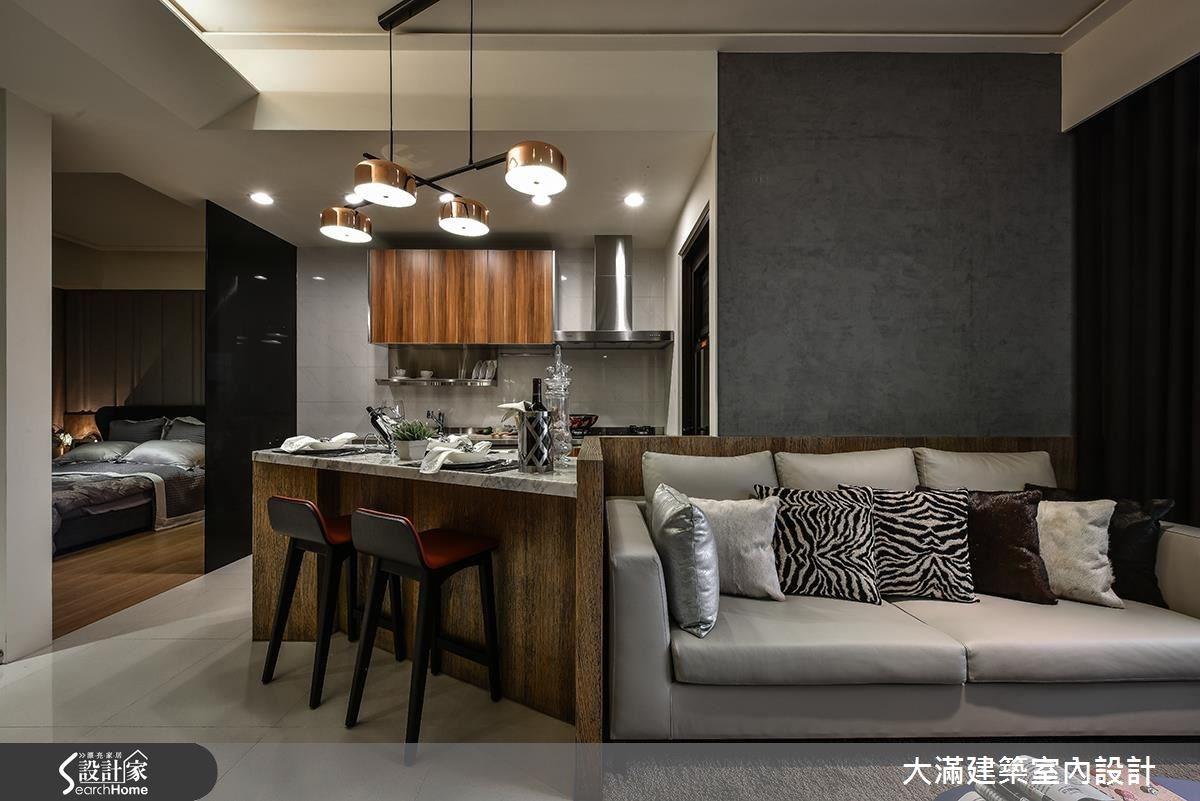 大理石 x 木質的理想組合!30 坪現代宅給你溫煦好生活
