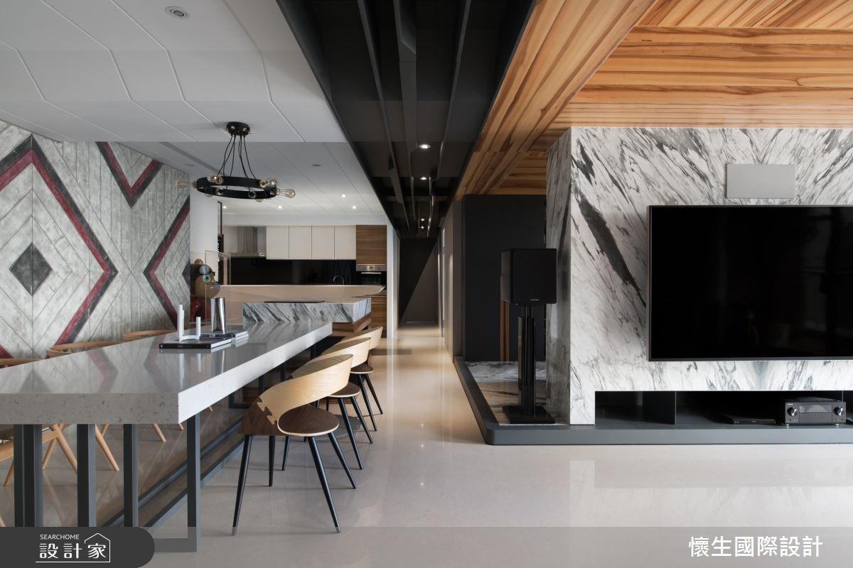掀起時尚設計風潮! 90 坪個性有型現代宅
