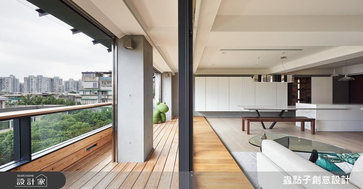僅僅 35 坪!老屋改造北歐風單身宅  坐擁整片台北的天空