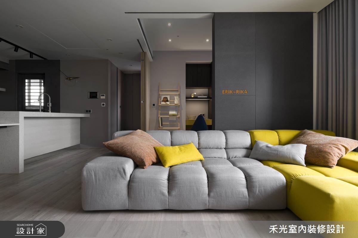粉紅更衣室 x 開放式中島 讓親友超羨慕的24坪好客宅