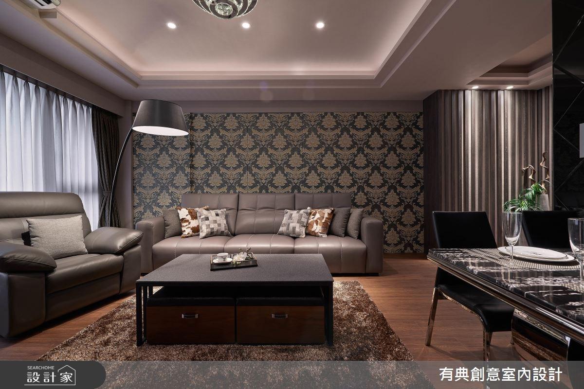 暗門沙發牆 x 臥房收納床  奢華風居宅美感、機能兩皆宜