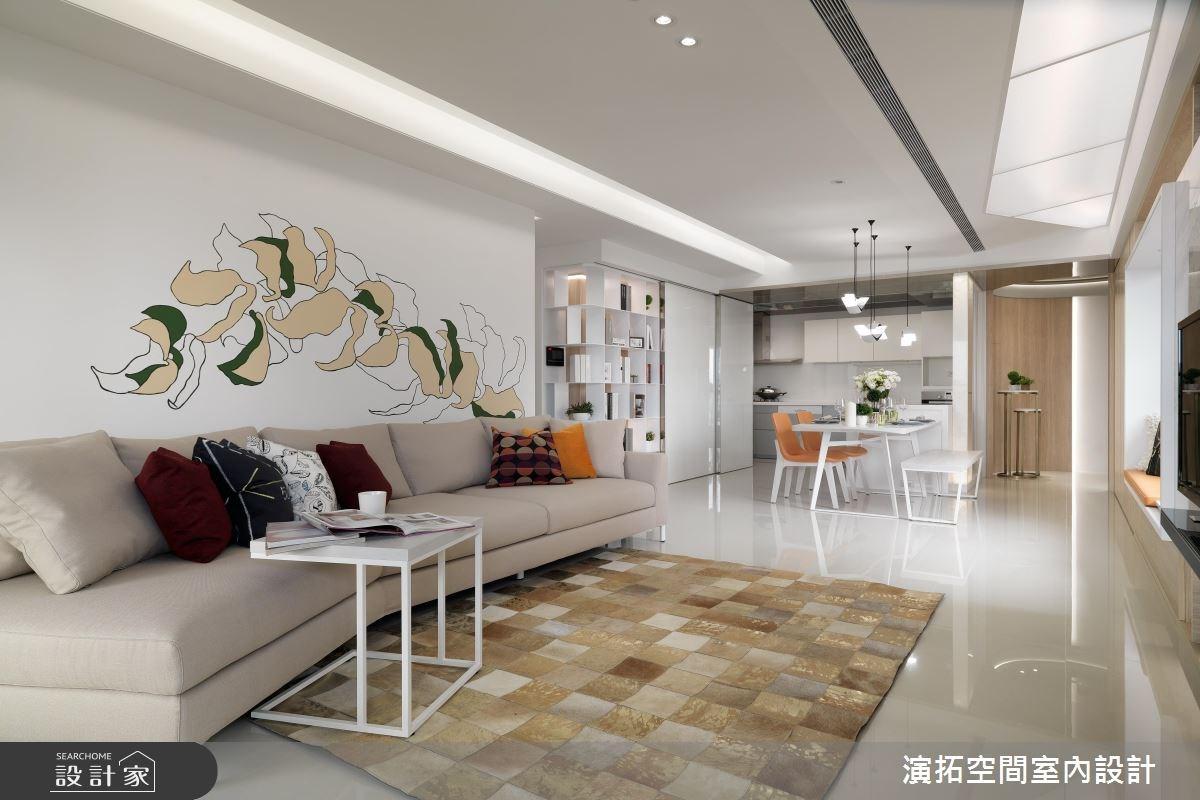 用牆面設計構築居家美景!36 坪的白色花漾現代宅