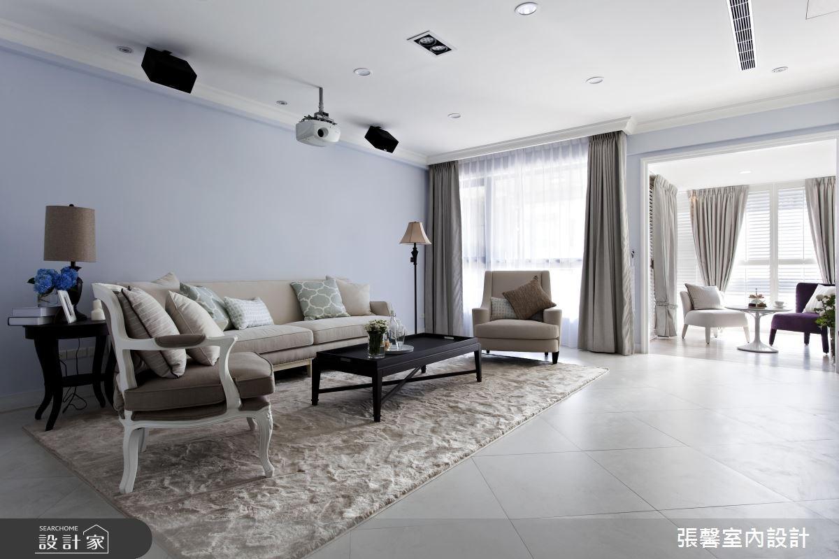 每一個角落都好優雅!綻放光感的 45 坪溫柔系美式宅