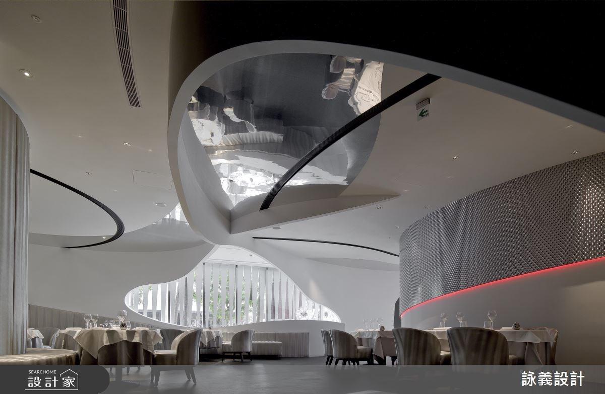 空間的蒙太奇,建築的視覺體現,將餐廳化為電影場景