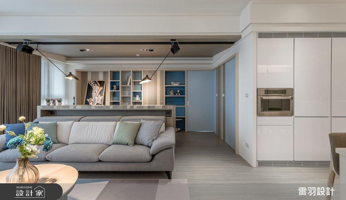 夢想中的開放式餐廚、大書房!打造超夢幻 46 坪藍色繽紛北歐宅