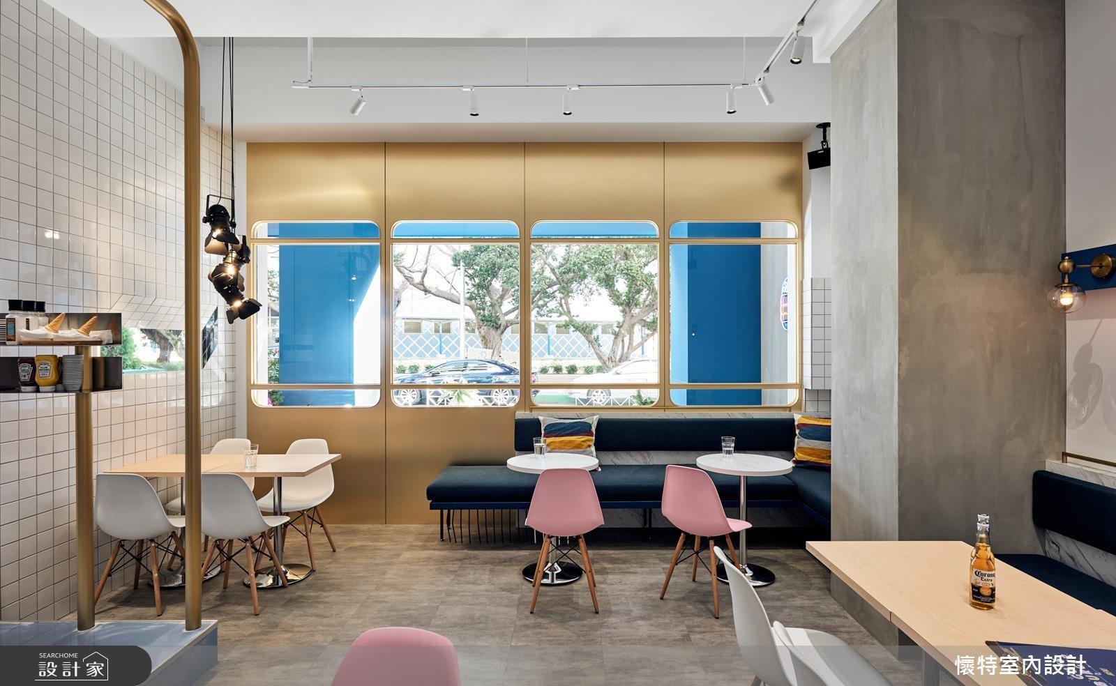 美式飲食也吹起韓風! 紐約地鐵+幾何圖形+粉色妝點 再造熱門景點關鍵字
