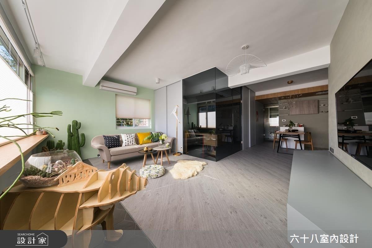 用方塊概念打造積木宅!拉門設計 2.0 讓 19 坪居家零隔閡