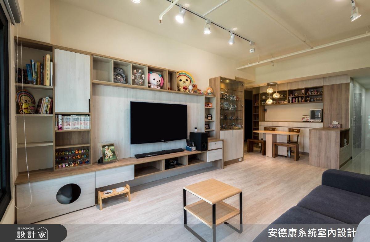 驚人的海量收納! 盡情展示收藏品的現代宅居