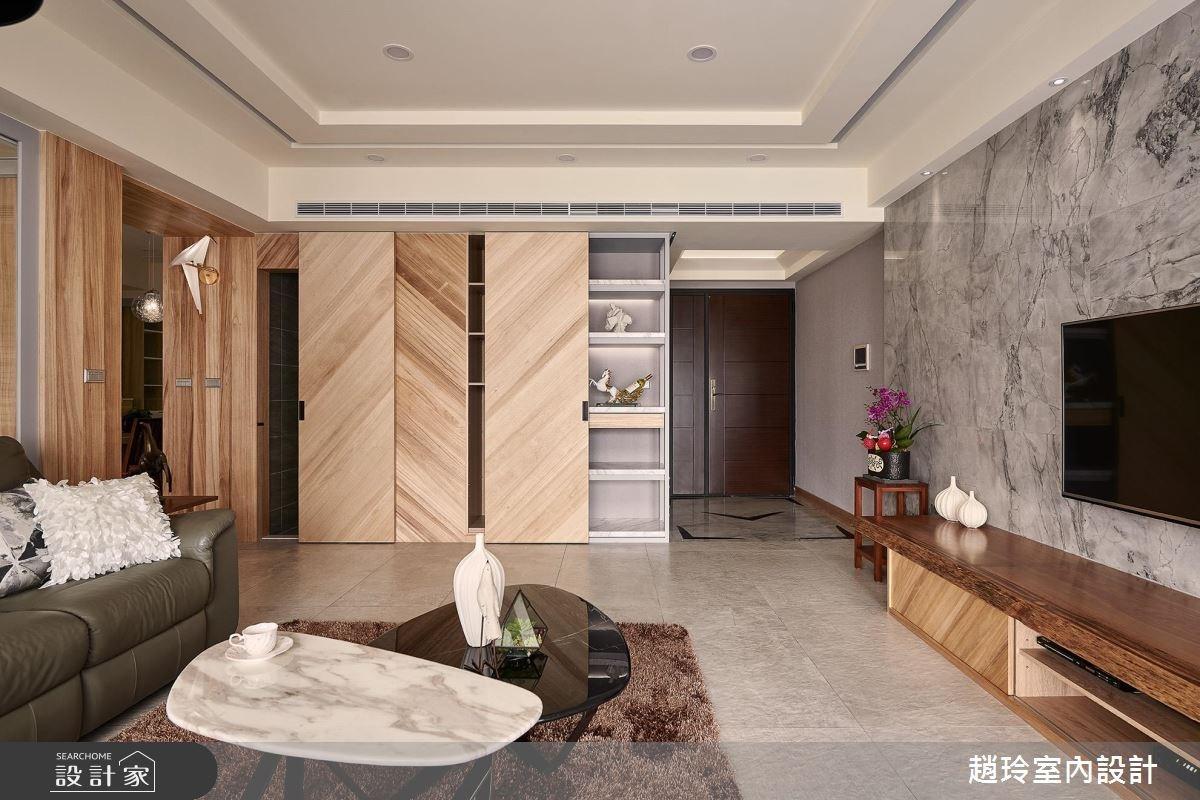 翻玩紋路材質,為溫暖知性的 82 坪宅邸創造更多家的記憶 !