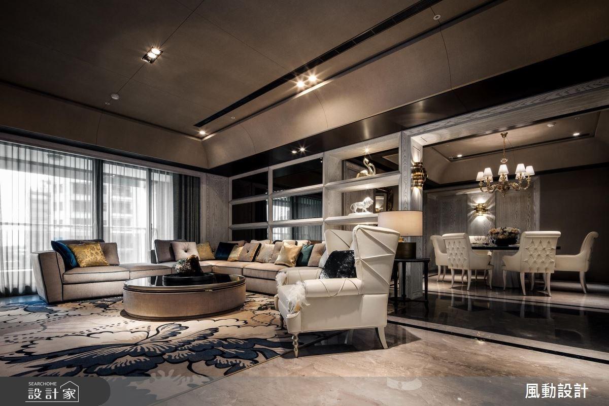 星級酒店式的奢華!新古典客廳、小精品臥室都給你
