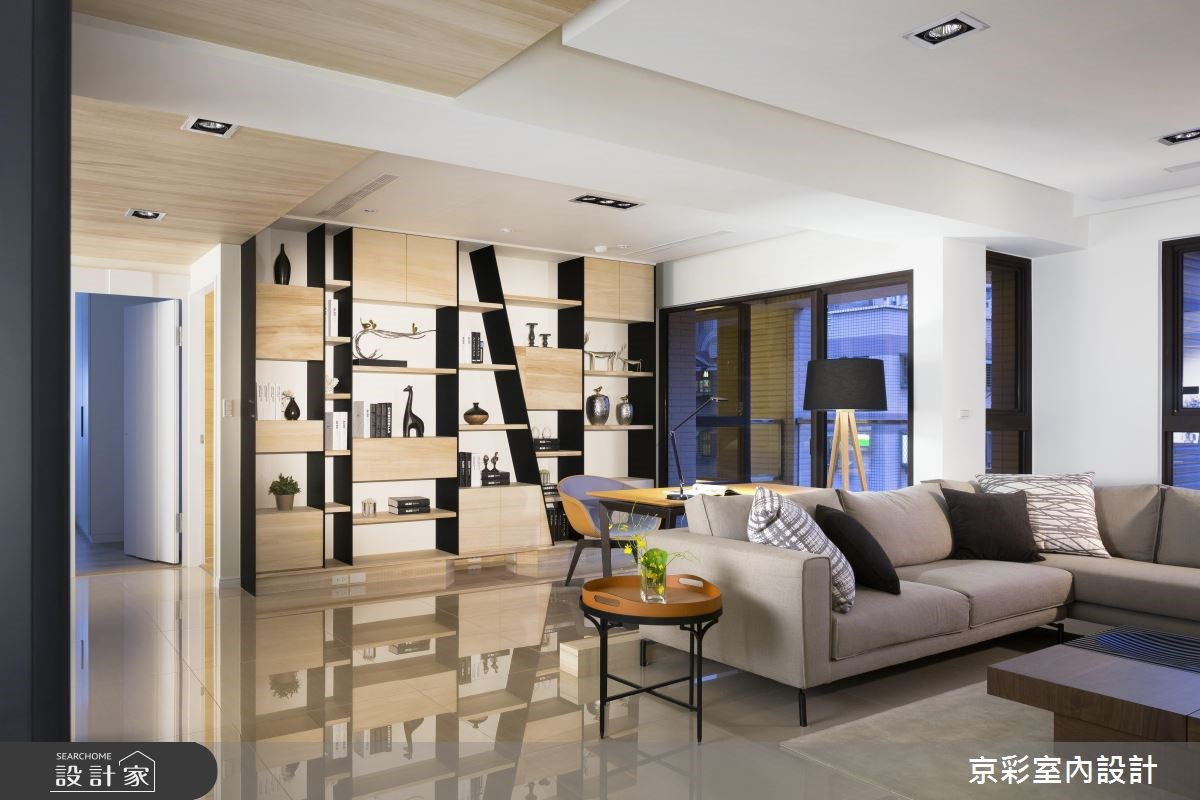 風格展示櫃框出幸福場景 打造上班族夫妻清新新婚宅
