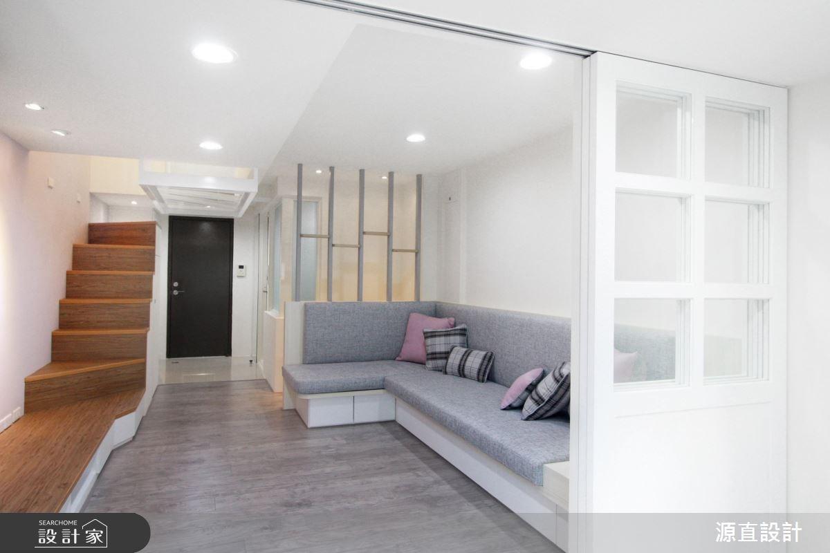 小空間也能有日式風呂!徘徊 30 坪樓中樓的玻璃天花