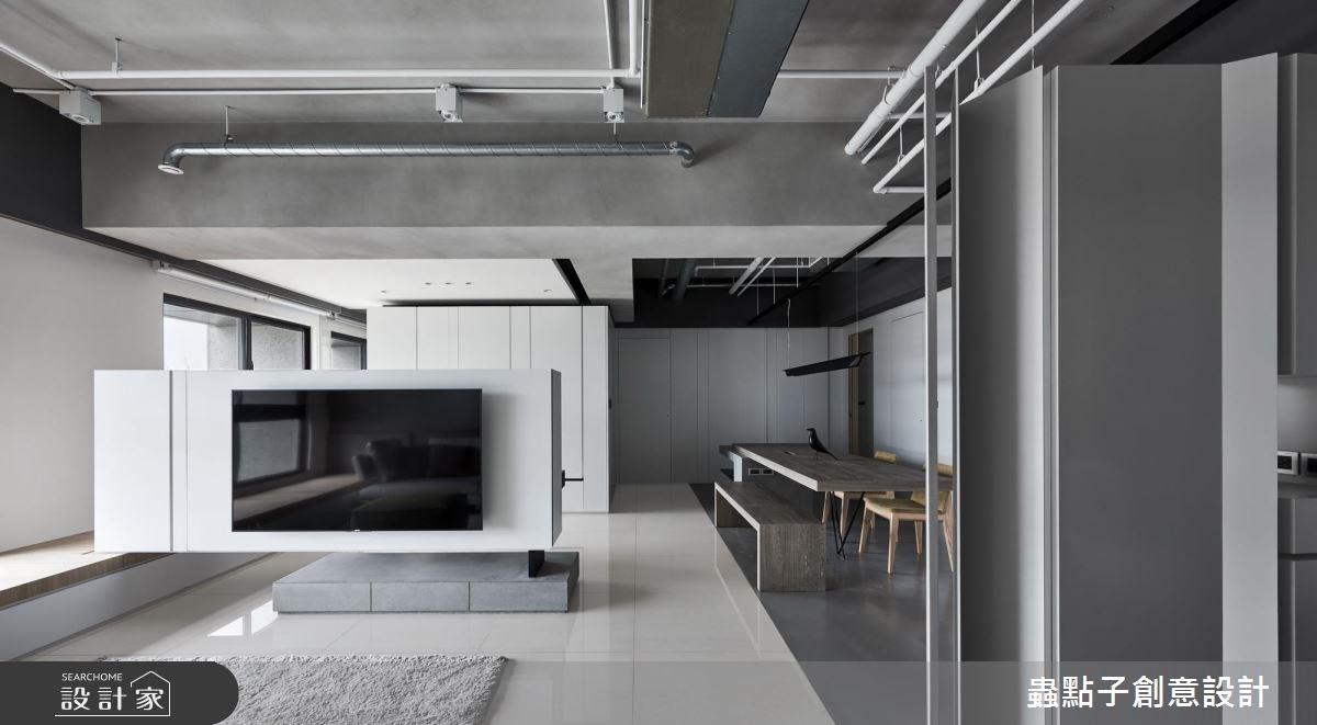 飄浮電視牆+大型中島 擁抱溫暖質感的簡約人文宅