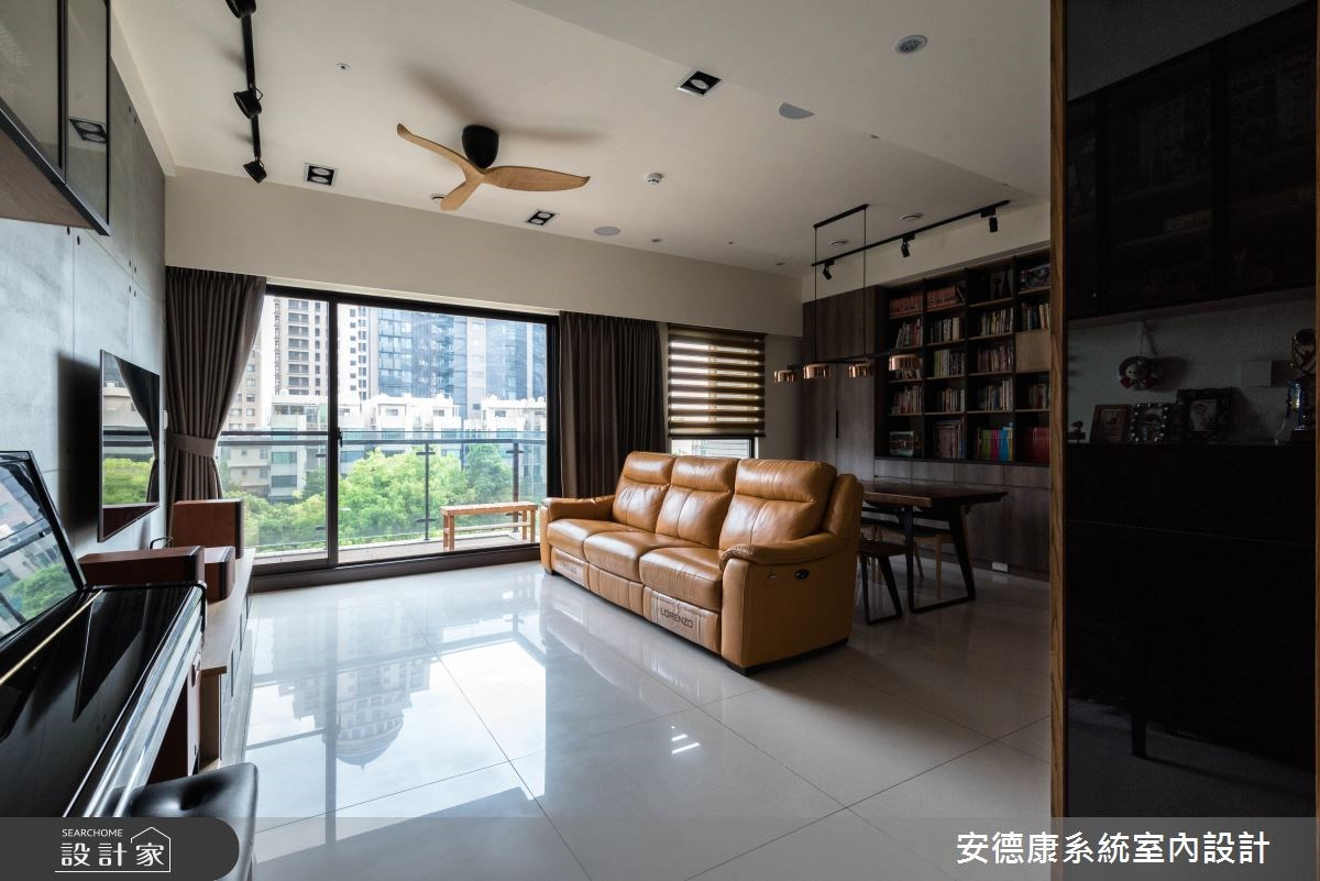 不用百萬的 38 坪現代宅,迎接窗景妝點清水模素顏