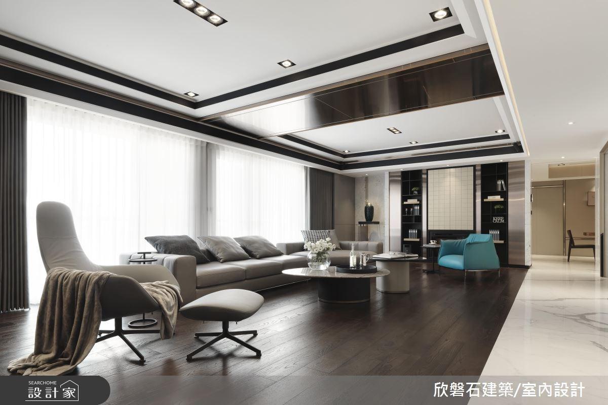 堆砌石材的精湛工藝,現代風豪邸包羅跨世代美感